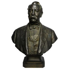 Larger-Than-Life Patinated Bronze Bust of President William H. Taft