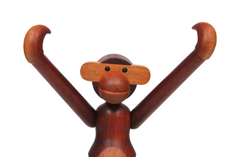 Teak Largest Articulated Monkey by Kay Bojesen For Sale