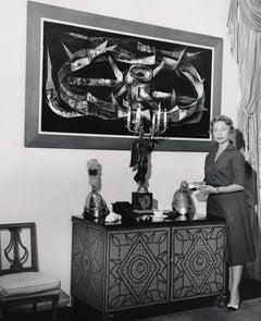Agnes Moorhead at Home Fine Art Print