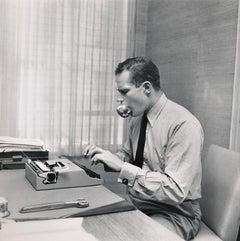 Charlton Heston Working at Desk Fine Art Print