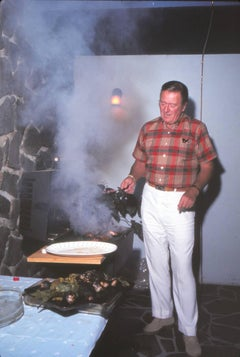 John Wayne Cooking on Grill Fine Art Print
