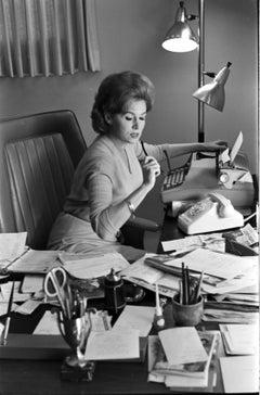 Rhonda Fleming: The Queen of Technicolor in Her Office Fine Art Print
