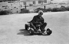 Steve McQueen Racing on Go-Kart Fine Art Print