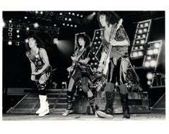 KISS Performing on Stage Vintage Original Photograph