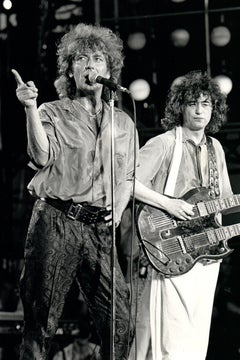 Robert Plant in Action on Stage Vintage Original Photograph