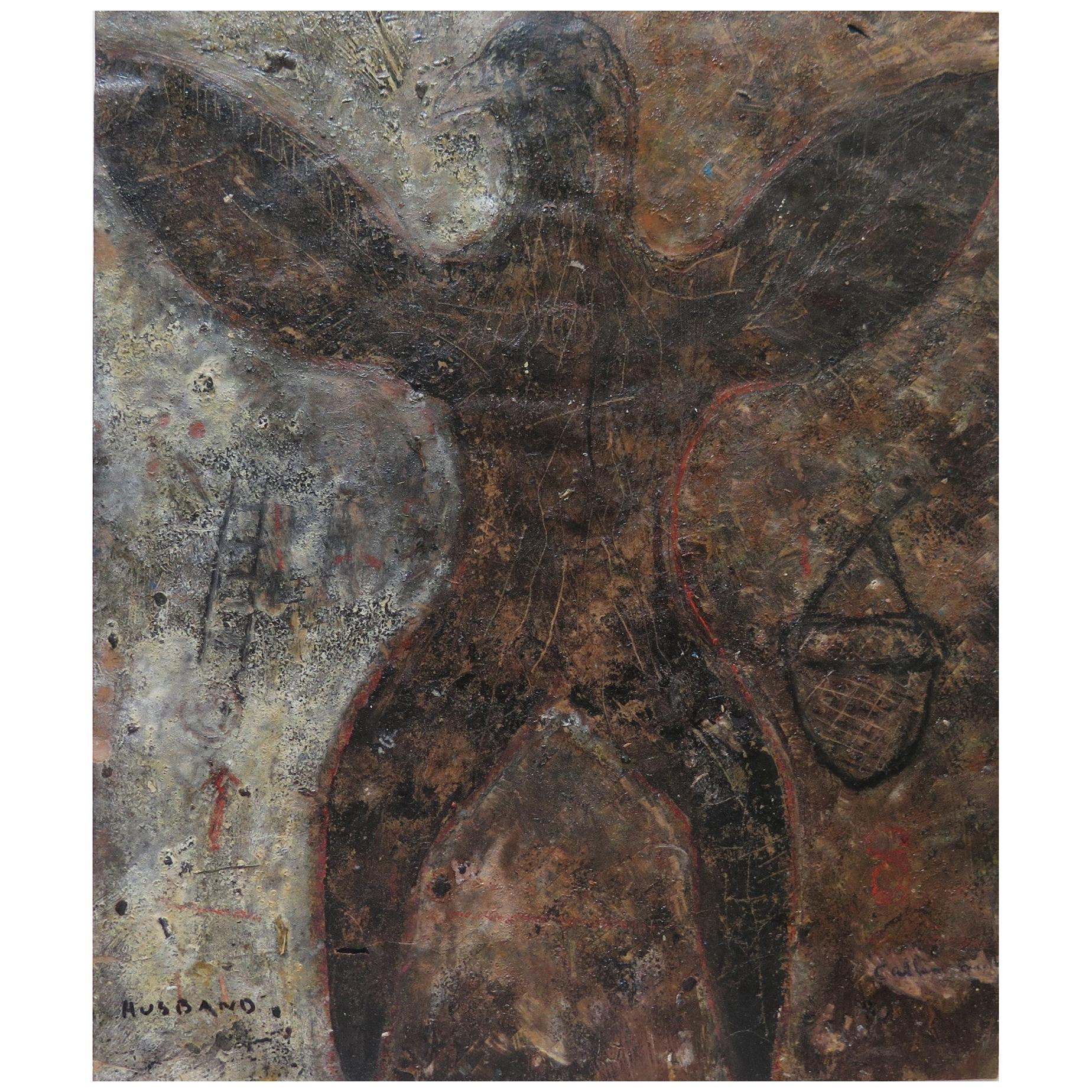 Larry Calkins Painting on Paper Husband