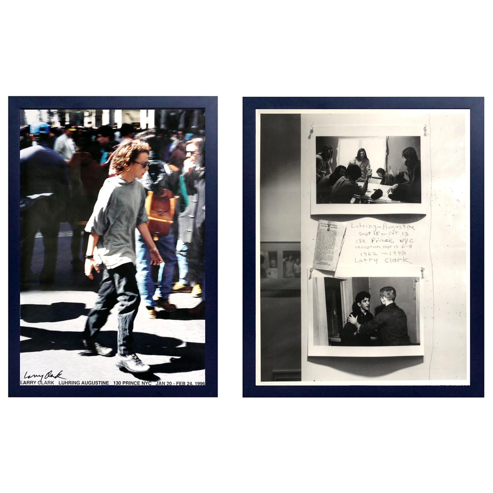 Larry Clark Signed Gallery Exhibition Offset Lithograph Posters