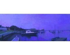 Edgartown Harbor in Ultramarine Violet