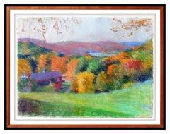 Larry Horowitz Original Pastel Painting Lake Landscape Large Signed Framed Art