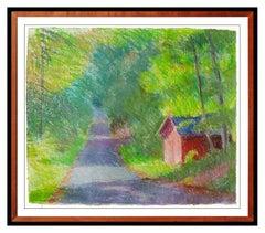 Larry Horowitz RARE Pastel Original Painting Rural Landscape Signed Framed Art