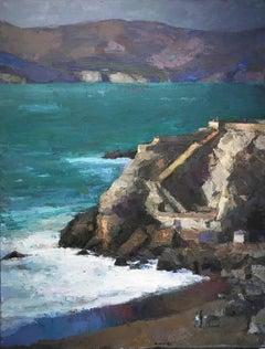 Coastal painting, Larry Horowitz, The Sutro Baths