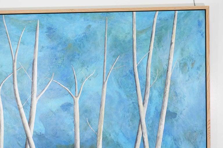 Modern Larry Locke Original on Canvas, Blue, Green Impressionist For Sale