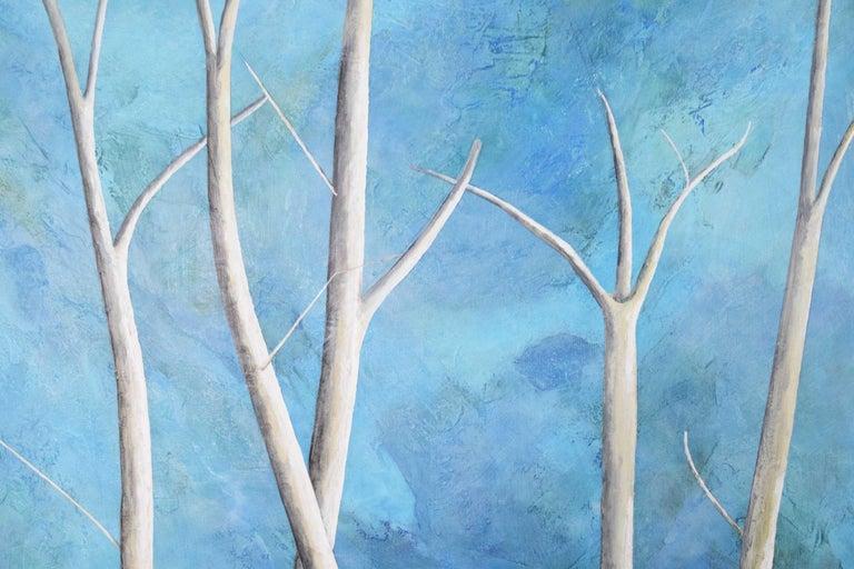 Contemporary Larry Locke Original on Canvas, Blue, Green Impressionist For Sale