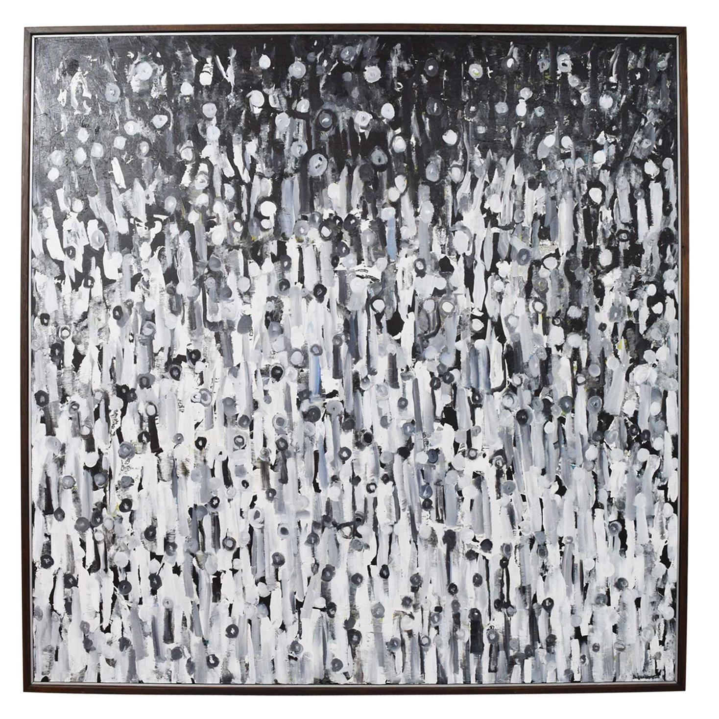 "Larry Locke, ""The Crowd"", Acrylic on Canvas, Dtd 2019"