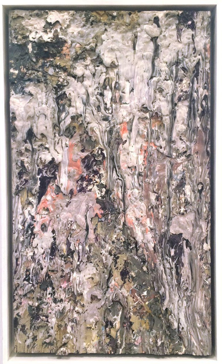 LARRY POONS Fox Run, 1989 Acrylic on canvas 37 3/4 x 21 3/4 inches