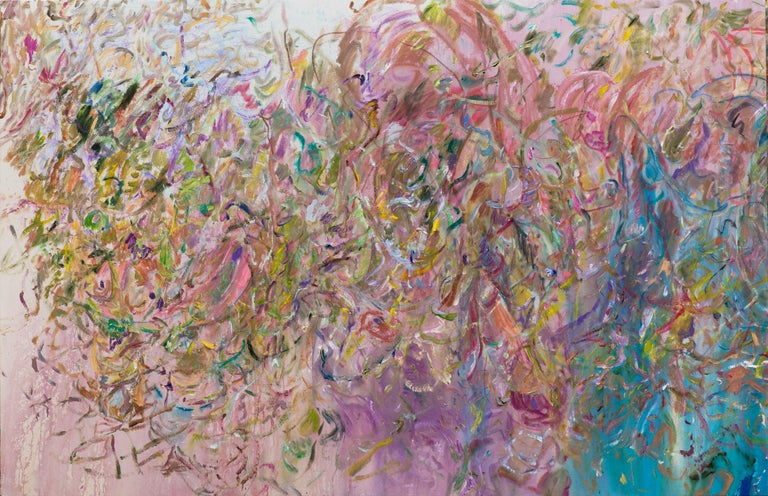 LARRY POONS Luta Compre, 2017 Acrylic on canvas 67 1/2 x 104 inches 171.5 x 264.2 cm