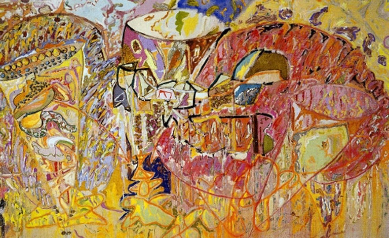 Larry Poons Abstract Painting - Old Dan Tucker