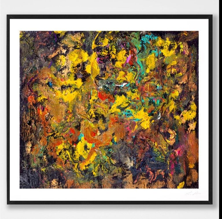 Cherry Bobalink - Brown Abstract Print by Larry Poons