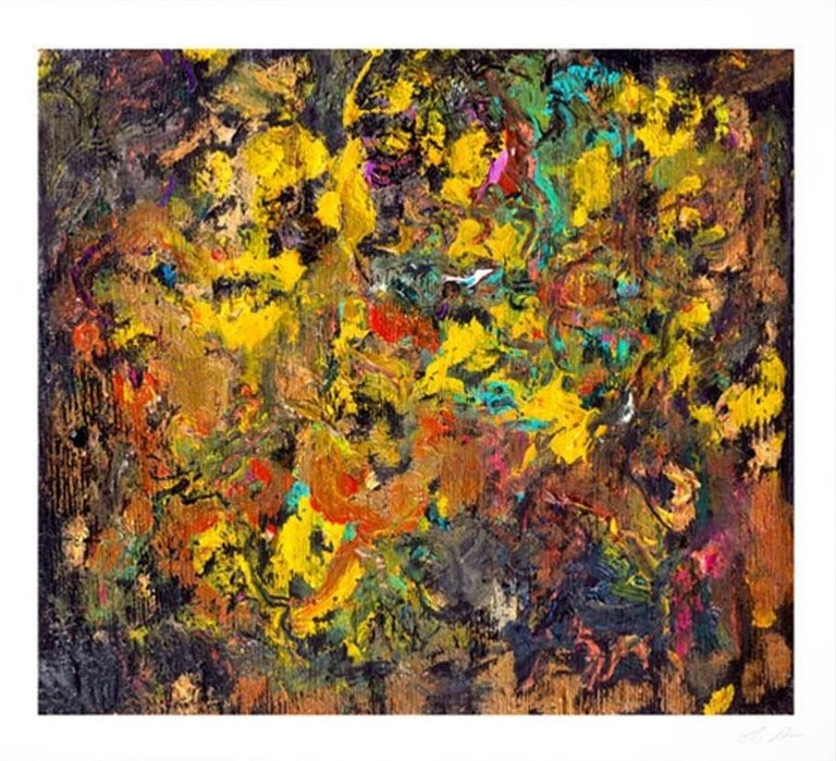 Larry Poons Abstract Print - Cherry Bobalink