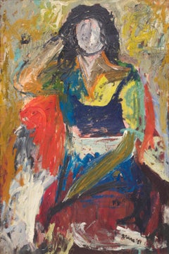 Woman, Larry Rivers, 1951 (female figurative modernist oil painting)