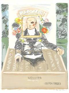 1990 After Larry Rivers 'Golden Tales' Pop Art Pastel,Multicolor USA Mixed Media