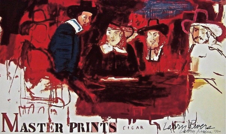 Dutch Masters - Abstract Expressionist Print by Larry Rivers