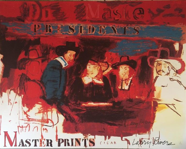 Larry Rivers Figurative Print - Dutch Masters (Signed)