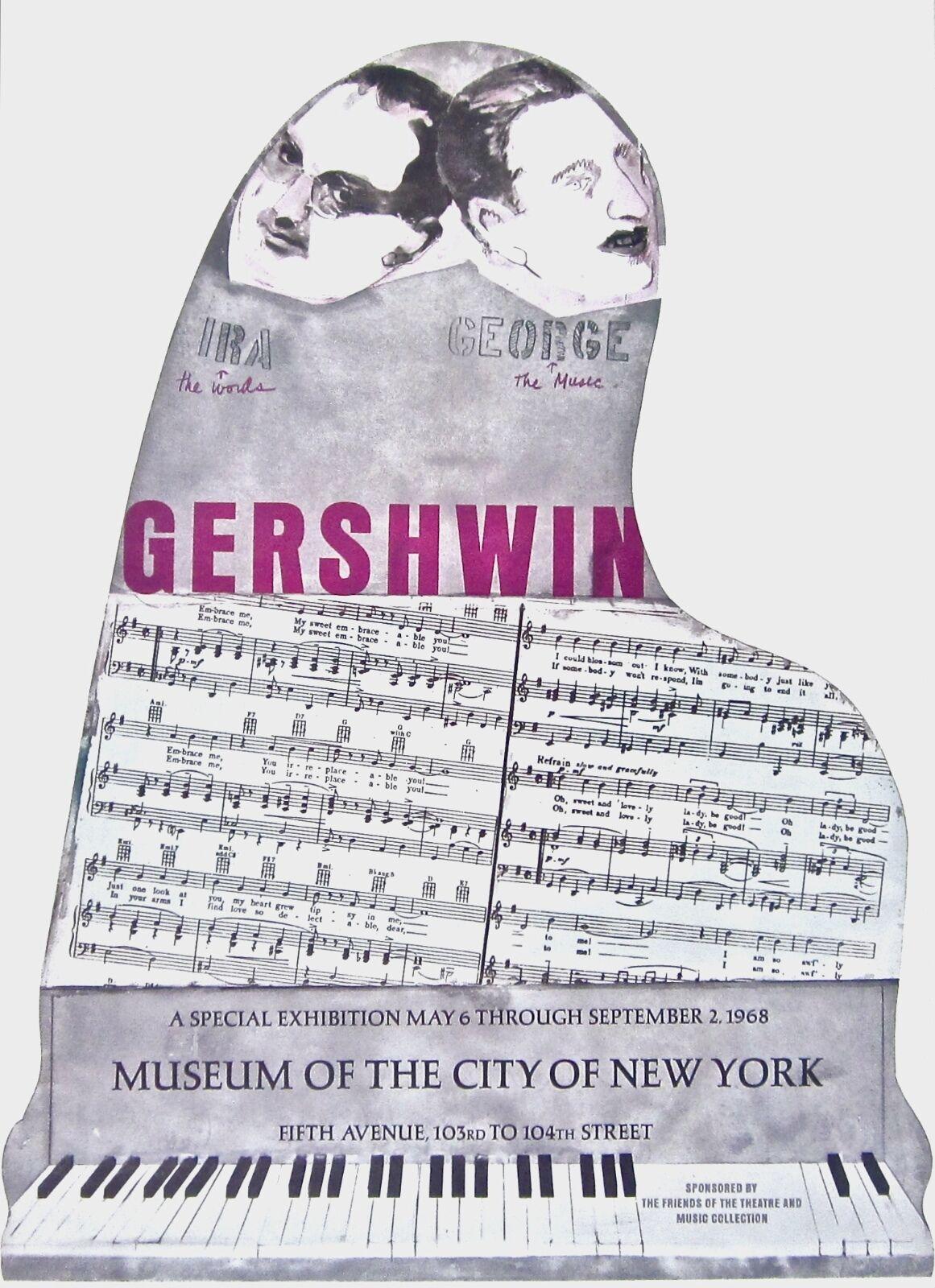 Gershwin Brothers 1968 Vintage Poster