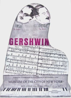 Gershwin Brothers 1968 Vintage Poster