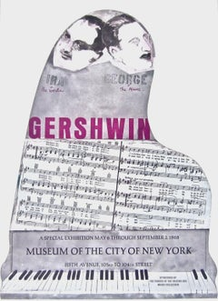 Gershwin Brothers, Original 1968 Event Lithograph, Larry Rivers
