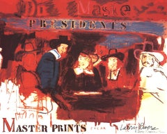 "Larry Rivers-Dutch Masters II-25"" x 31.5""-Mixed Media-1991-Pop Art-Red, Blue"