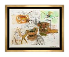 Larry Rivers Large Color Silkscreen Bronx Zoo Hand Signed Modern Pop Animal Ar