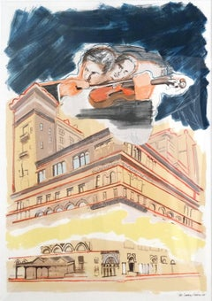 Sky Music Over Carnegie Hall, Screen Print, Pop Art, American Artist
