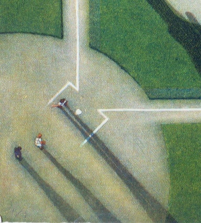 The Catbird Seat (an aerial view of the majesty of the baseball diamond) - Print by Larry Welo