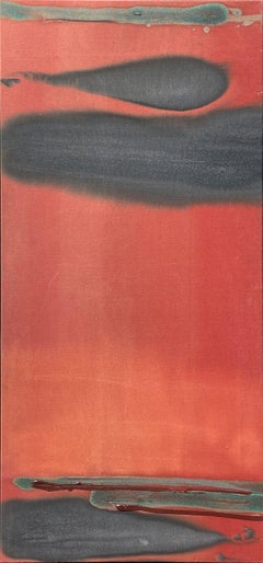 """""""Horse Tone Red,"""" Larry Zox, Red and Black Abstract Expressionist"""