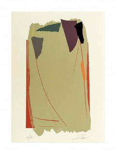 Grey Sweep I, Limited Edition Serigraph Print by Larry Zox, 1979