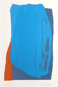 Moro II, Abstract Silkscreen by Larry Zox