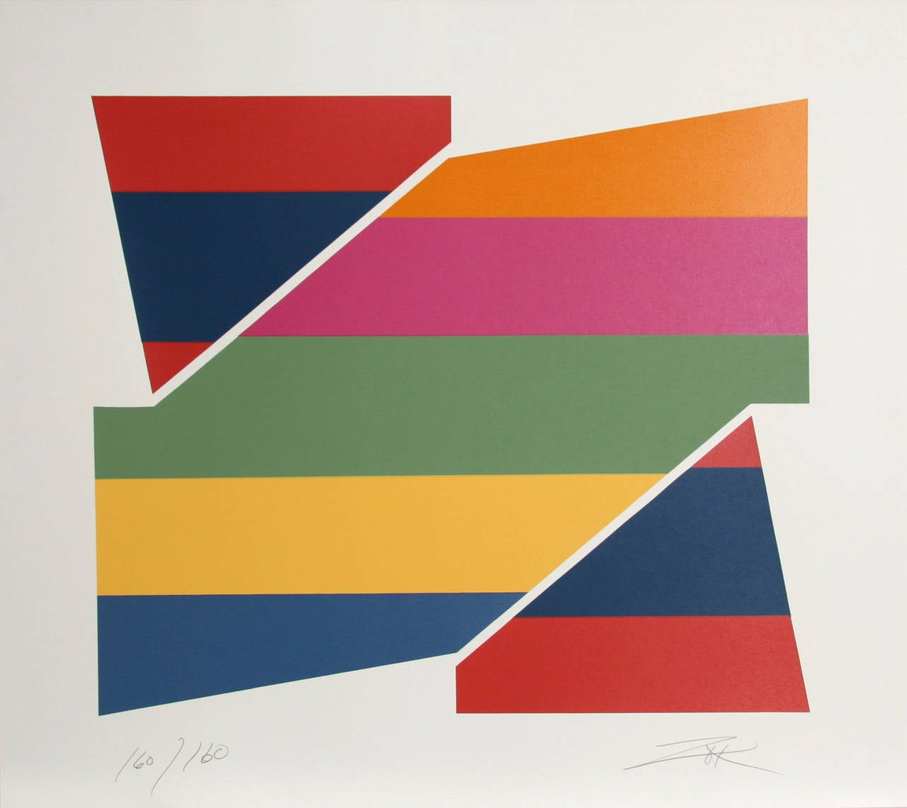 Rotation I, Geometric Abstract by Larry Zox