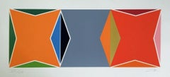 Three Square Composition, Limited Edition Silkscreen, Larry Zox - LARGE