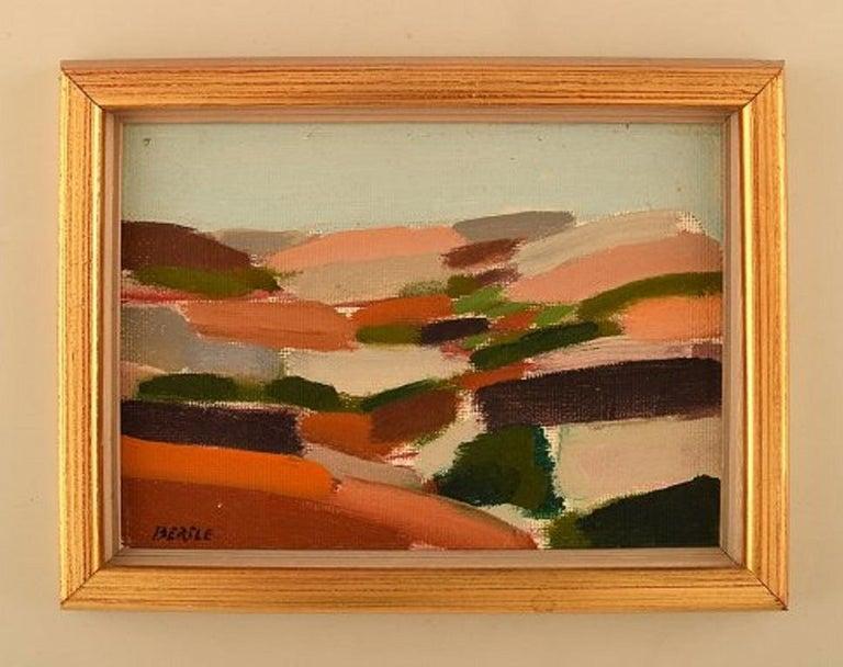 Lars Bertle, Swedish artist. Oil on plate.