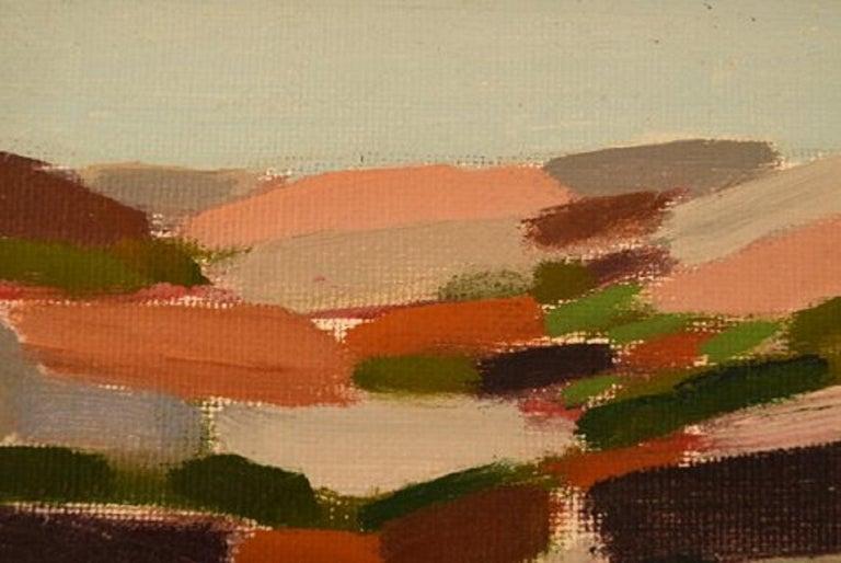 Lars Bertle Swedish Artist Oil on Plate,