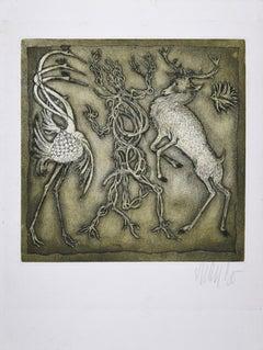 Pas de Trois - Original Etching and Aquatint by Lars Bo - 1971