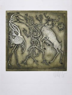 Pas de Trois - Original Etching and Aquatint by Lars Bo - 1971