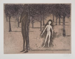 Surrealist encounter, 1975 - Original Handsigned Etching