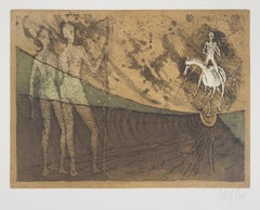 The Arrival of The Horserider, 1975 - Original Handsigned Etching
