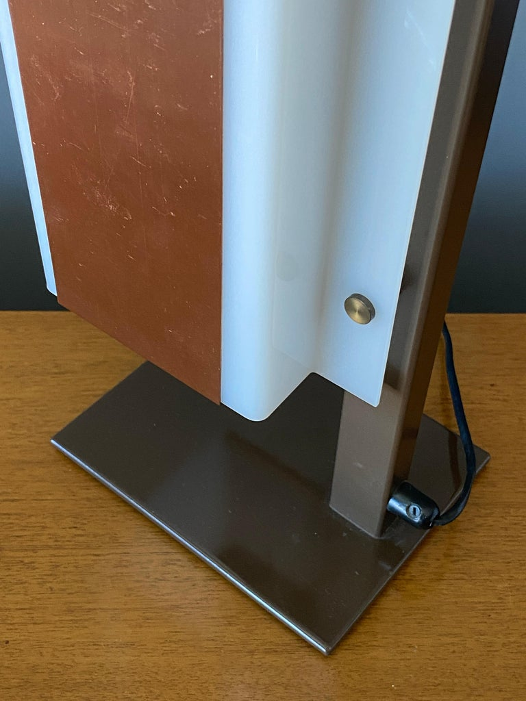 Lars-Gunnar Nordström, Table Lamps Metal, Copper, Acrylic for Metallimestarit In Good Condition For Sale In West Palm Beach, FL