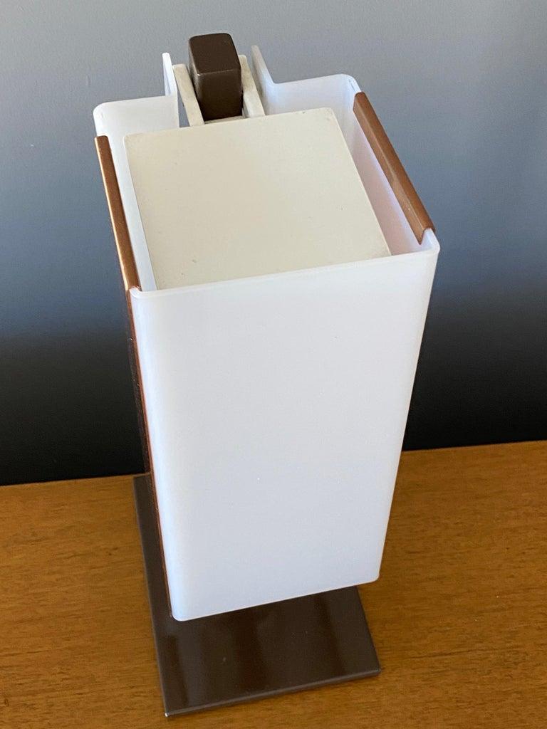 Lars-Gunnar Nordström, Table Lamps Metal, Copper, Acrylic for Metallimestarit For Sale 1