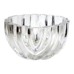 Lars Hellsten for Orrefors Modern Crystal Bowl