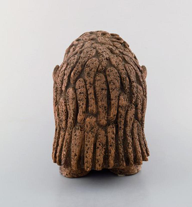 Swedish Lars Pagfeldt 'Sweden' for Tengod, Large Musk Ox in Stoneware For Sale