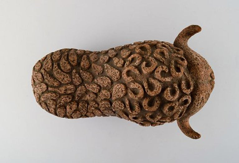 Lars Pagfeldt 'Sweden' for Tengod, Large Musk Ox in Stoneware In Good Condition For Sale In Copenhagen, Denmark